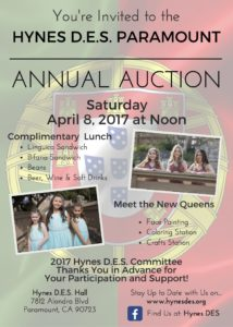 HYNES D.E.S. PARAMOUNT AUCTION FLYER